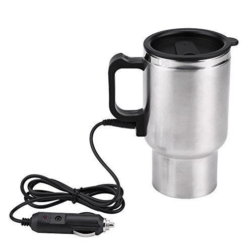 Haofy 12V 450ml Elektro In Car Edelstahl Reise Wasser Heizung Tasse Kaffee Tee Milch Auto Tasse Erhitzt Smart Reisebecher Wasserkocher