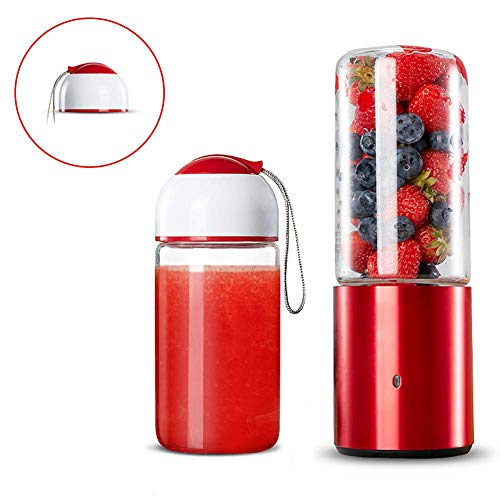 Mini draagbare USB oplaadbare Juicer, 350ml Mini Personal Electric Blender 6-Blade, BPA-vrij reizen Fles for Smoothie en Milkshake for thuis, kantoor, Sport, Travel