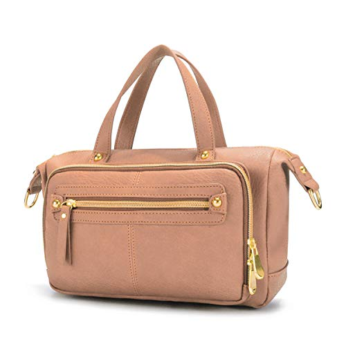Damen Schultertasche Handtasch, Brenice Frauen Multi Taschen Schultertaschen Vintage Walles Motorrad Tasche Umhängetasche für Reise Pink