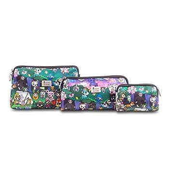 JuJuBe   Be Set Organization Pouches   Portable Toiletry Makeup Cosmetic Travel Bag Set   3-Piece Set   Tokidoki   Camp Toki…