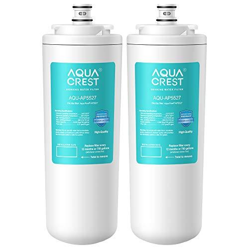 AquaCrest AP5527 Cartucho de Filtro de Agua para ósmosis inversa pre y Post Filtro de Agua, Compatible con Aqua-Pure AP5527, 5598101, AP-RO5500, APRO5500 Sistema de ósmosis inversa (1 Juego)