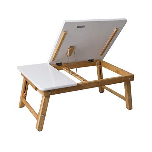 ShiSyan Regazo portátil Tabla de la Cama Plegable de la Bandeja de bambú de ángulo Ajustable Desayuno Escritorio Blanco con cajón