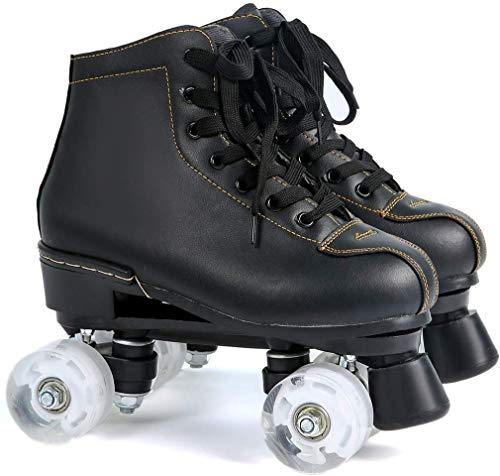 Patines para rodillos al aire libre LED patines de patines para niños y adolescentes para principiantes, cómodos rollerskates patines artísticos patinaje unisex adulto unisex adulto negro, a, 36