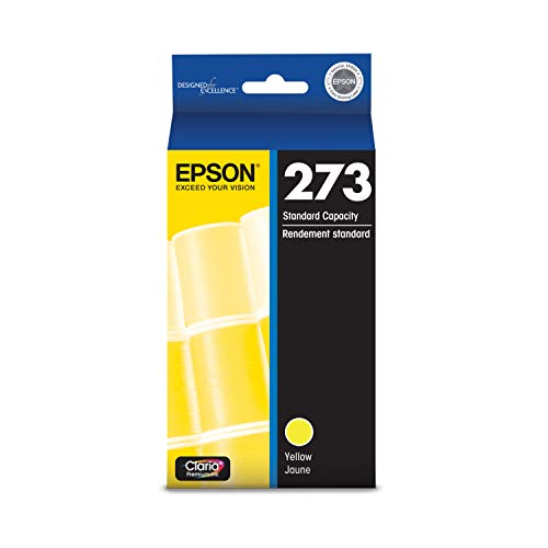 EPSON T273 Claria Ink Standard Capacity Yellow Cartridge (T273420-S) for Select Epson Expression Premium Printers