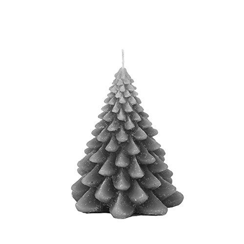 Broste Kopenhagen kaars dennenboom kerstboom kerstboom staalgrijs 13 cm kerstkaars - decoratie-idee - kerstdecoratie