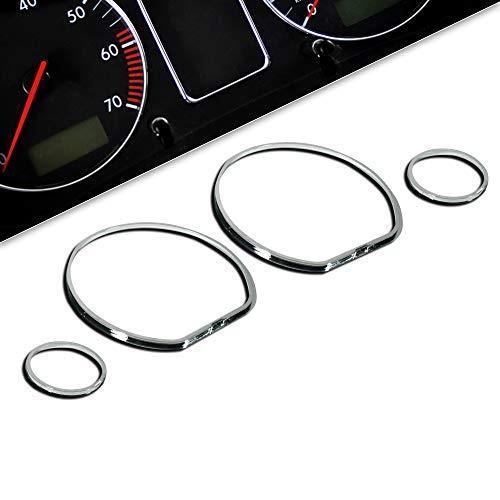 JOM Car Parts & Car Hifi GmbH 839288 Encadrements pour manomètres, Chrome, pour VW Golf 3, Vento