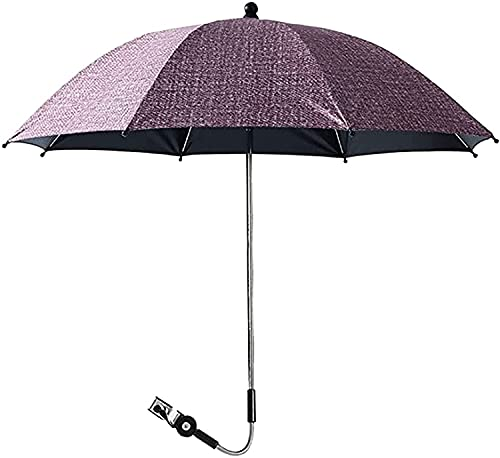 YHQKJ Sombrilla para Cochecito Carrito de Bebé Cochecito de la Cubierta del Sol, Sombra del Sol UV Paraguas de protección de Lluvia para cochecitos Bicicleta bebé (Color : Rojo, Size : 75cm)