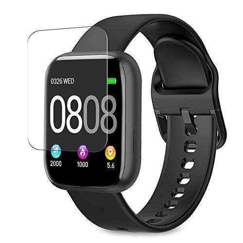 Vaxson 3 Unidades Protector de Pantalla, compatible con WWDOLL BANLVS BANLVS AIMIUVEI P4 P6 1.4' smartwatch Smart Watch [No Vidrio Templado] TPU Película Protectora