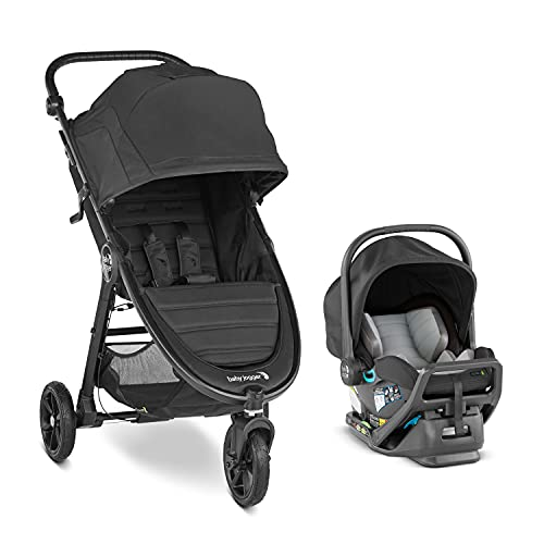 Baby Jogger City Mini GT2 All-Terrain Travel System | Includes City GO 2 Infant Car Seat, Jet