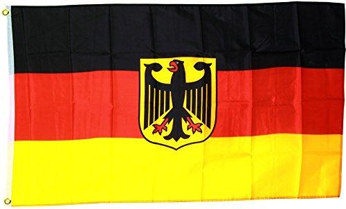 MM Deutschland Flagge/Fahne mit Adler, mehrfarbig, 150 x 90 x 1 cm, 16308