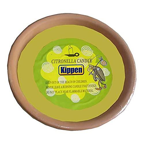 KIPPEN Antorcha perfumada de citronela de Terracota, Cerámica, NA, 20x6 cm