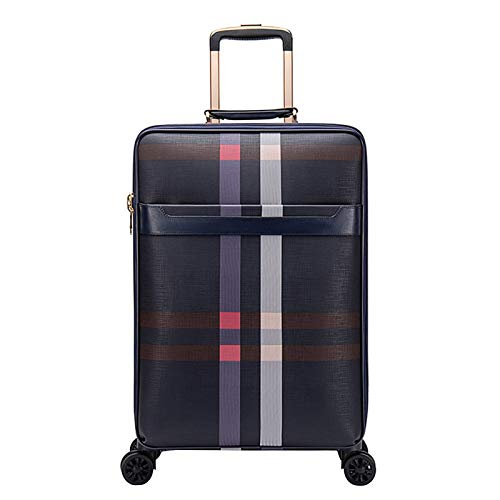 Adlereyire Trolley Suitcase Lightweight Durable Carry On Cabin Hand Luggage Set, Travel Bag with 4 Wheels (Color : Blue, Size : 44 * 23 * 50cm)