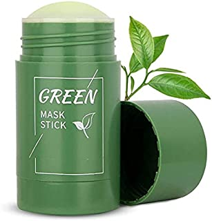 Generic Natural Green Tea Mask Stick Deep Cleansing Oil Control Anti Acne Moisturizing Refreshing Lazy Solid Mask