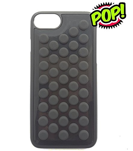 IPhone 7 case IPhone 8 case HHYCT Funny Popping Decompression Bubble Wrap Back Soft Silicone Case Cover for iPhone 7/8 case 4.7 Inch (Black)