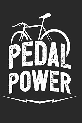 Pedal Power Notebook: 6x9inch Pedal Power Bicycle Notebook Dotgrid