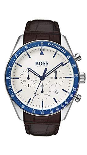 Hugo Boss heren chronograaf kwarts horloge met lederen armband 1513629