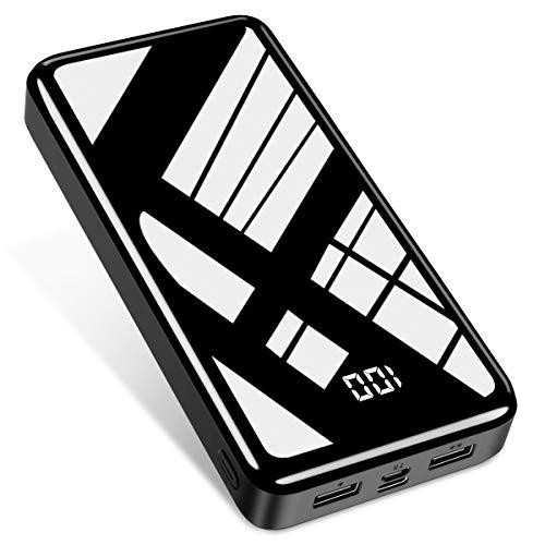 Bextoo Power Bank 30000mAh, große Kapazität Externer Akku 2 USB-Ausgangs- und Eingangsanschlüsse USB-C Schnellladegerät Ladegerät für iPhone