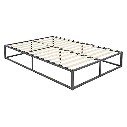 ML-Design Metallbett 140x200 cm auf Stahlrahmen mit Lattenrost, Anthrazit, Metall Bettgestell, robust, leichte Montage, Bett für Schlafzimmer der Jugendliche, Erwachsene, Doppelbett Ehebett Gästebett