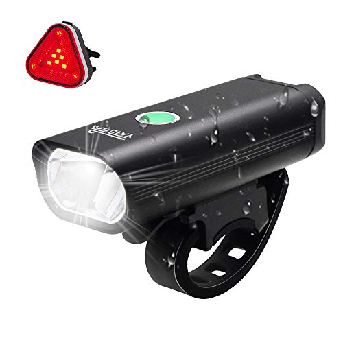 YATDA 自転車ライト USB充電式 LED ヘッドライト 高輝度 4モード対応 懐中電灯兼用 アルミ合金製 防水 防振...