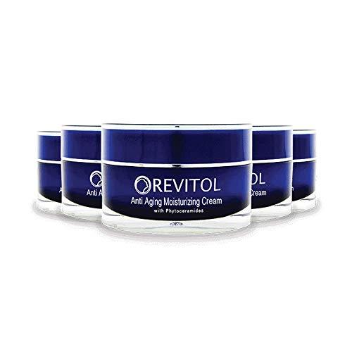 Revitol Anti Aging - Moisturizing Lotion with Phytoceramides, Natural Ceramides, Argiline, Shea Butter, and Primrose Oil - 5 Pack