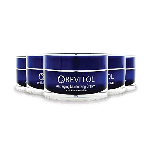 Revitol Anti Aging - Moisturizing Lotion with Phytoceramides, Natural Ceramides, Argiline, Shea Butter, and Primrose Oil - 5 Pack