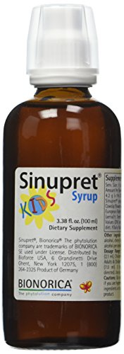 Sinupret Kids Natural Sinus, Respiratory and Immune Support, 3.38-Ounce Bottle by Bionorica