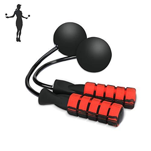 BestCool Seilloses Springseil, schnurloses Springseil, gewichtet, verstellbar, für Herren, Damen, Kinder, Outdoor, Indoor-Training, Fitness, Workouts