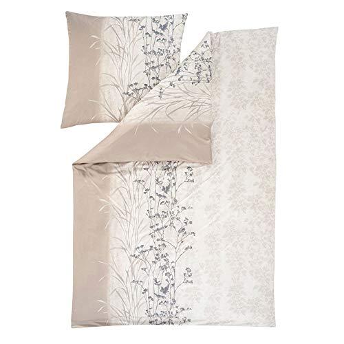 ESTELLA Bettwäsche AVA | Leinen | 135x200 + 80x80 cm | bügelfreie Interlock-Jersey-Qualität | pflegeleicht und trocknerfest | ideale Vier-Jahreszeiten-Bettwäsche | 100% Baumwolle