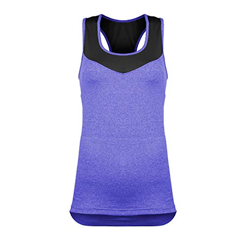 Women's Activate Cycling & Running Tank Top with Pockets (2XL, Purple)