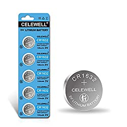 powerful [5-year warranty]CELEWELL CR1632 Garmin Vivofit Jr 3V lithium battery as a replacement for the key fob (5…