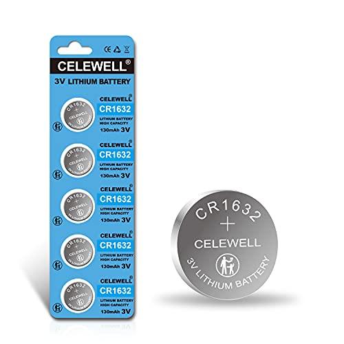 【5-Year Warranty】 CELEWELL CR1632 Battery...