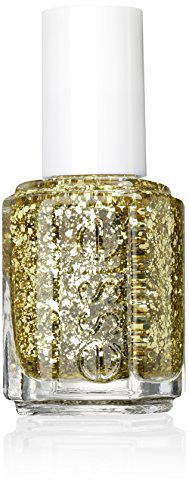 essie Luxeeffects Nagellack rock at the top Nr. 335 / Glitzer Topcoat in Gold, 1 x 14 ml