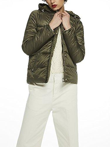 Scotch & Soda Maison Damen Reversible Puffer Jacket Jacke, Grün (Army 15), X-Large