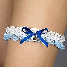 Giarrettiera di pizzo nozze matrimonio sposa biancheria intima regali de nozze addio al nubilato bianco blu conchiglia mare