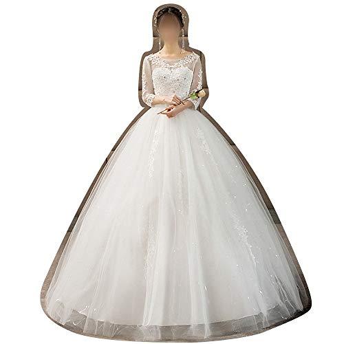Rocke Ballkleid Sweetheart Brautkleid Hochzeit Braut für Frauen Brautkleider (Size : XXL)