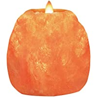 Himalayan Glow Hand Carved Salt Candle Holders