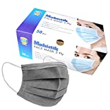 Mobistik 3 Layer Protective Face Mask with Nose Clip with Nonwoven Fabric with BFE 95; ISO Certified 3 ply disposable medical face mask with Triple Filtration for Protection (Dark Grey) (Pack of 50) ultrasonic facial cleaners Mar, 2021