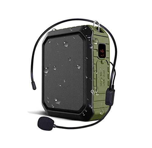 ZOUSHUAIDEDIAN Amplificador de voz, la voz personal del amplificador de 18W con conexión de cable del altavoz con micrófono de un portátil a prueba de agua al aire libre, Bluetooth for maestros, Ducha