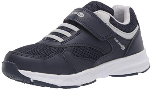 Geox Jungen Low-Top Sneaker HOSHIKO Boy J845GA Kinder Halbschuh,Sportschuh,Klettschuh, Klett-Verschluss,Navy/Grey,30