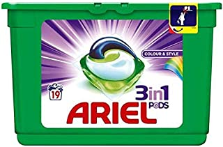 Ariel 3 in 1 Liquid Pods Colour and Style Pack of 19
