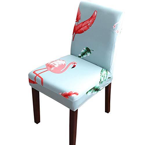 Fundas para sillas Lago Cisne Azul Spandex Fundas sillas Comedor Lavable Extraíble Funda Muy fácil de Limpiar Duradera Modern Bouquet de la Boda Hotel Decor Restaurante 4/Piezas