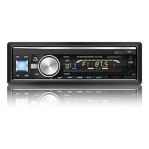 YOHOOLYO Radio Coche Bluetooth FM USB MP3 Audio Estéreo In-Dash WMA Ape FLAC WAV Pantalla LCD - Conector ISO