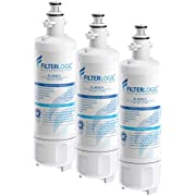 FilterLogic NSF 53&42 Certified ADQ36006101 Refrigerator Water Filter, Replacement for LG LT700P, Kenmore 9690, 46-9690, 469690, ADQ36006102, LT700PC, WSL-3, LFXS30766S, LFXC24726D (Pack of 3)