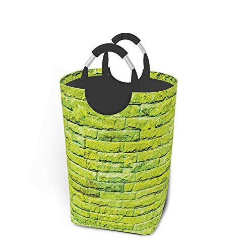 ALLMILL Bolsa de lavandería,Pared Pastel Fondo Ladrillo Tonos Vibrantes Estilo Urbano Moderno Artístico Boho,Cesta de lavandería Plegable Grande,Cesto de Ropa Plegable,Papelera de Lavado Plegable