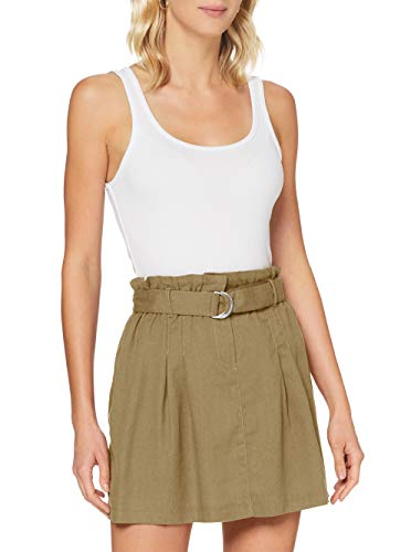 ONLY Damen ONLNELDA-Bibs HW Short Skirt PNT Rock, Martini Olive, 40