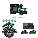 Metabo HPT Cordless Framing Nailer Kit with Cordless Circular Saw (Tool Only) and Battery (2-Pack) and Charger Combo Kit