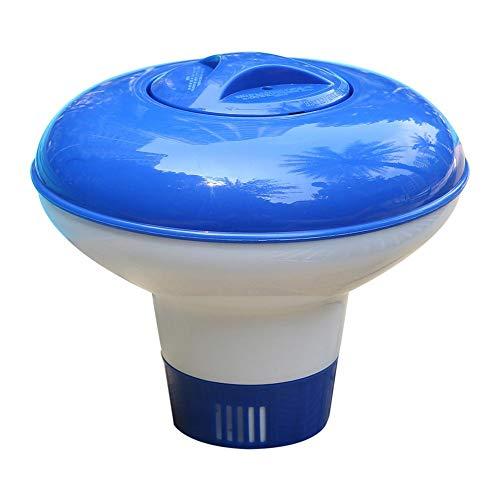 bowlder Chlor Floater Pool Chlorspender Pool Chlortablette Floater 1,5 Zoll Tablettenhalter für Innen und Außenpools Whirlpools Spa