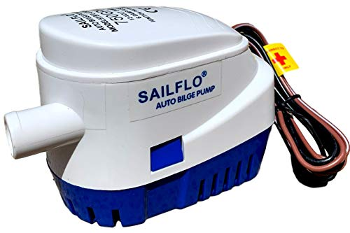SAILFLO Automatic Submersible Boat Bilge Water Pump 12v 750gph Auto with Float Switch 3/4 inch outlet
