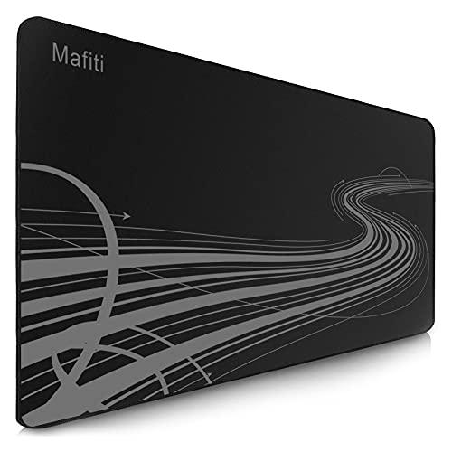 Mafiti Mauspad XXL, 900 x 400 mm Gaming Mauspad, Mousepad Groß rutschfest, nahtlose Kanten, Verbessert Präzision und Geschwindigkeit, Schreibtischunterlage für PC, Laptop, Homeoffice und Büro, schwarz