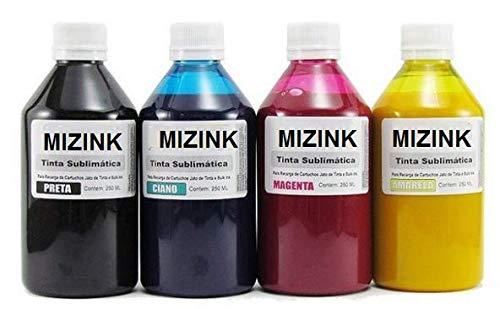 Tintas Sublimáticas Epson 500 ml kit 4 cores XP241, XP231, XP431, XP411, XP214 XP401 Tx620 Tx420w T25